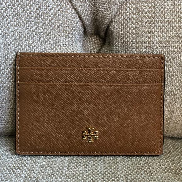 6ff857de65bd8 Tory Burch Emerson Slim Card Case